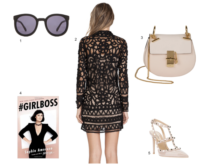 Karen-Walker-Super-Duper-Sunglasses, Girl-Boss-Nasty-Gal, Chloe-Drew-Bag, Valentino-Rockstud-Poudre-Pink-Shoes